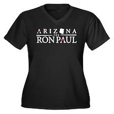 Arizona for Ron Paul Women's Plus Size V-Neck Dark