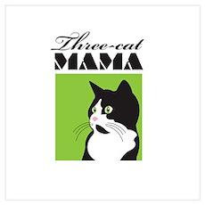 Three-Cat Mama Poster