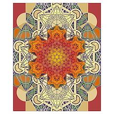 Sacred Geometry Metatron Mandala Star Poster