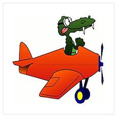 Gator Plane Poster