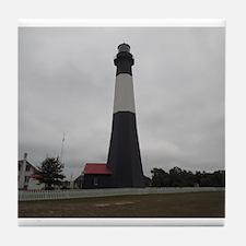 Tybee Island lighthouse 17 Tile Coaster