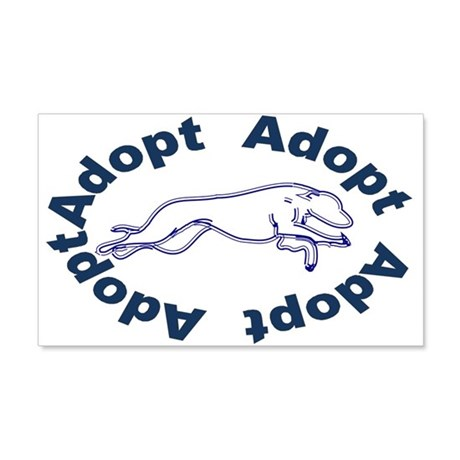 Adopt V2.0 Blue 22x14 Wall Peel