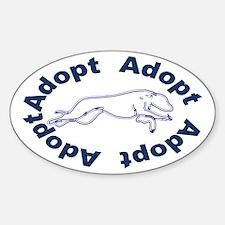 Adopt V2.0 Blue Sticker (Oval)