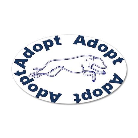 Adopt V2.0 Blue 22x14 Oval Wall Peel