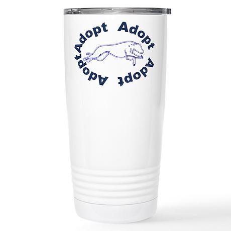 Adopt V2.0 Blue Stainless Steel Travel Mug