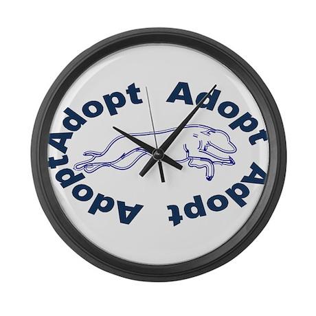 Adopt V2.0 Blue Large Wall Clock