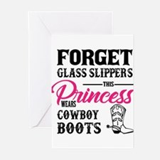 This Princess Wears Cowboy Boots Greeting Cards