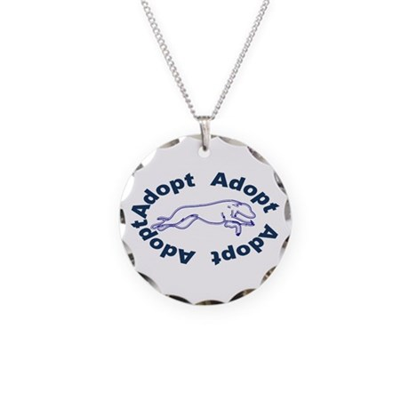 Adopt V2.0 Blue Necklace Circle Charm