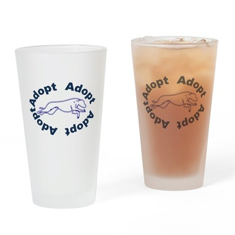 Adopt V2.0 Blue Drinking Glass