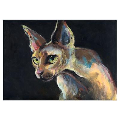 Sphynx cat 19 14x19 Poster