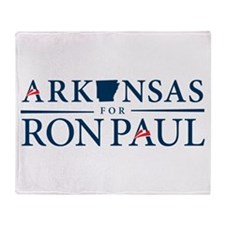 Arkansas for Ron Paul Throw Blanket