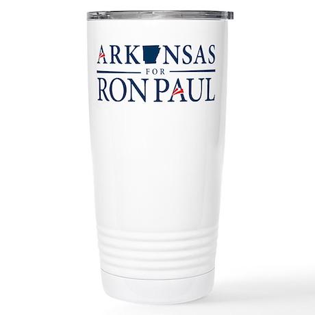 Arkansas for Ron Paul Stainless Steel Travel Mug