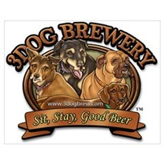 3 Dog Brewery Poster