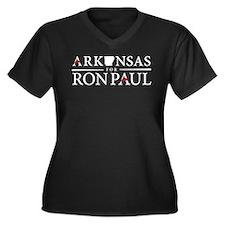 Arkansas for Ron Paul Women's Plus Size V-Neck Dar