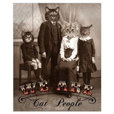 Cat People Framed Print