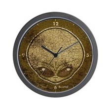 The Visitor (Gray) (Distressed) Wall Clock