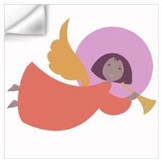 Angel in orange robe Wall Decal