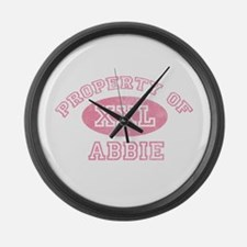 Property of Abbie Large Wall Clock