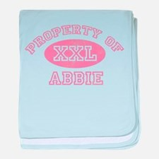 Property of Abbie baby blanket