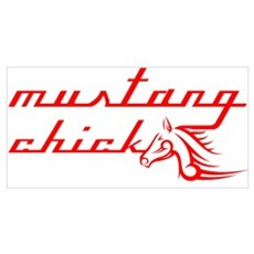 Mustang Chick Poster