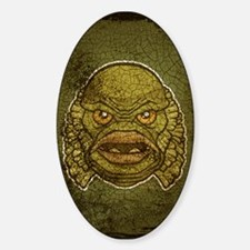 The Creature (Distressed) Sticker (Oval)