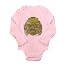 The Creature (Distressed) Long Sleeve Infant Bodys