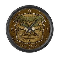 Mr. Cyclops Twobrow (Distressed) Large Wall Clock
