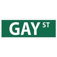 GAY St Street NYC Poster