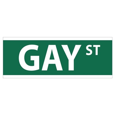 GAY St Street NYC Canvas Art
