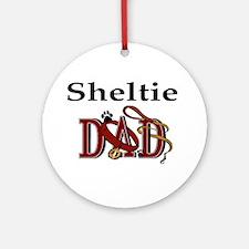 Sheltie Dad Ornament (Round)