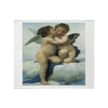 """Angel Kiss"" Throw Blanket"
