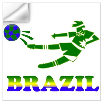 Brazil Soccer Player Wall Decal