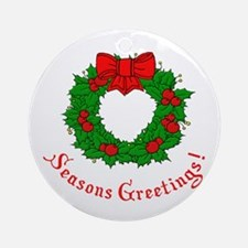 Seasons Greetings Ornament (Round)