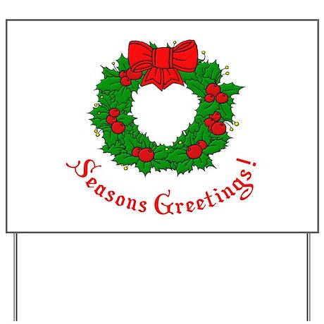 Seasons Greetings Yard Sign