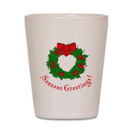 Seasons Greetings Shot Glass