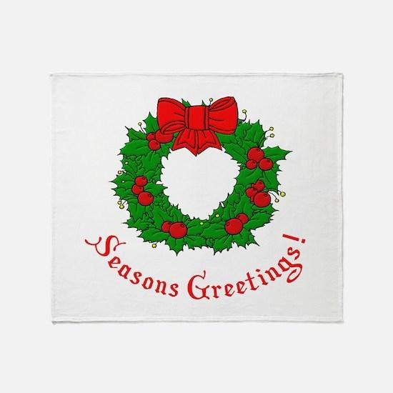 Seasons Greetings Throw Blanket