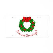Seasons Greetings Aluminum License Plate