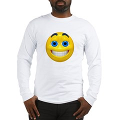 Smiling Smiley Face Long Sleeve T-Shirt