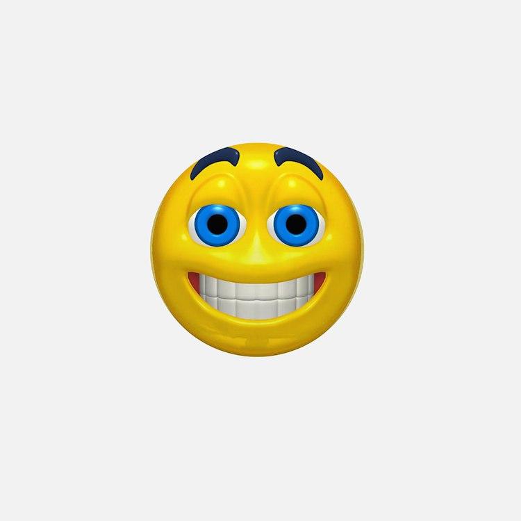 Smiling Smiley Face Mini Button