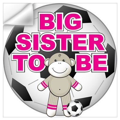 Big Sister To Be Soccer Wall Decal