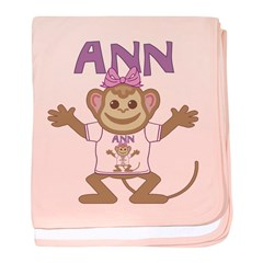 Little Monkey Ann baby blanket