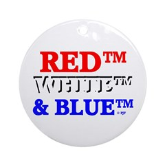 RED™, WHITE™ & BLUE™ Ornament (Round)