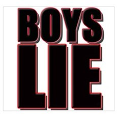 Boys Lie Canvas Art