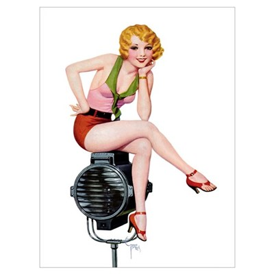 Radio Girl Framed Print