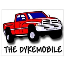 Gay Pride Dyke Mobile Poster