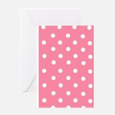 Pink with White Dots Greeting Card