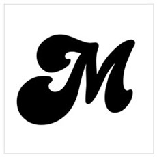 Fun Funky letter M Canvas Art