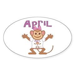 Little Monkey April Decal