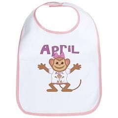 Little Monkey April Bib