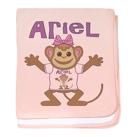 Little Monkey Ariel baby blanket